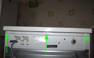 Як зняти верхню кришку пральної машини: Індезіт, LG