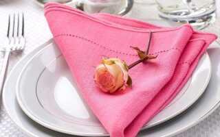 Серветки для сервірування столу: як красиво скласти, схеми