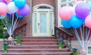 Прикраси кулями на день народження дитини (фото): оформлення кімнати, залу повітряними кульками